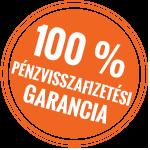 100% elégedettségi garancia pecsét