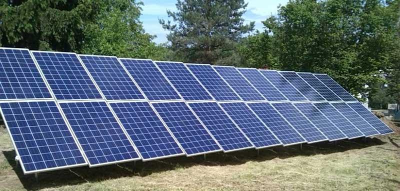 Talajon elhelyezett napelem tartószerkezet